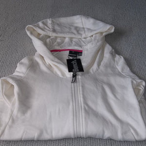 Bench Front Zip White Hoodie Size Small NWT